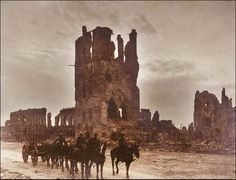 Ruins along the Western Front by Frank Hurley - WWI