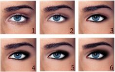 How to create a smoky eye. For full instructions visit http://www.styleuphoria.com/2011/07/smokin-smokey-eyes-guide/