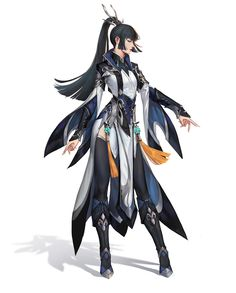 ArtStation - 设定, k dash Fantasy Character Design, Character Design Inspiration, Character Concept, Character Art, Girls Characters, Fantasy Characters, Female Characters, Pelo Anime, Warrior Outfit