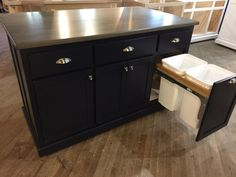 Custom Kitchen Island with Seating Item 155 Roll Out Shelves, Kitchen Island With Seating, Kitchen Islands, Spice Rack Organiser, Cabinets And Countertops, Rev A Shelf, Cabinet Dimensions, Thing 1, Custom Kitchens