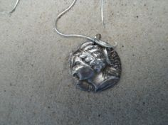 Handmade SS Roman Coin Pendant Necklace by EndlessMediums on Etsy, $65.00
