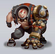 Character Design Animation, Fantasy Character Design, Character Design References, Character Design Inspiration, Game Character, Character Concept, Robot Concept Art, Robot Art, Cyberpunk