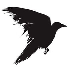 For the Red Crow tattoo - I like this sideview-in-flight pose for one of the crows; top view for the other?:
