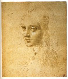 Leonardo da Vinci, Head of a Young Woman (Study for the Angel in the 'Virgin of the Rocks'), 1480s, metalpoint heightened with white on buff prepared paper. © Biblioteca Reale, Turin (15572 D.C.)