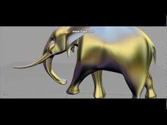 Modelling an Elephant in Rhino - YouTube