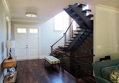 Modern and exciting, open riser stairs can make an eye-catching statement in your home. From decadent woods to floating designs, we offer them all. Open Staircase, Staircase Design, Stairs, Cable Railing Systems, Modern Railing, Modern Design, Design Elements, Interior And Exterior, Contemporary