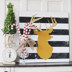 The @lollyjaneblog ladies always have the best sign ideas. Now you can get a #HolidayCrafternoon kit to make your own signs from their designs, like this jolly little reindeer. Check out the kit on @hazelandrubyhandmade #christmassign #rudolph #paintedsign