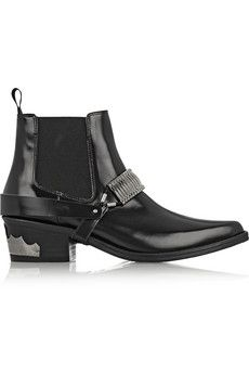 Toga Pulla Embellished leather Chelsea boots | NET-A-PORTER