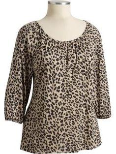 Women's Plus Dolman-Sleeve Color: Animal $24.94