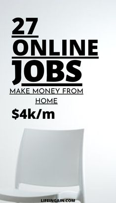 Looking for online jobs to make money from home? Here's a list of 27 online jobs perfect for everyone. You can earn up to $4000 per month from the comfort of your home! Learn to work at home and make money online. #makemoneyfromhome #onlinejobsfromhome #makemoneyonline #onlinejobstomakemoney  #moneymakingideas #30legitonlinejobs #workathomemom #workathomejobs #legitonlinejobs #onlinejobsworkfromhome Online Earning, Earn Money Online, Make Money Blogging, Legit Online Jobs, Online Jobs From Home, Home Based Work, Work From Home Moms, Make Money Fast, Make Money From Home