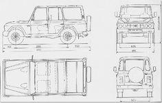 ARO 244 blueprint European Motorcycles, Blue Prints, 4x4, Pickup Trucks, Projects, Maps