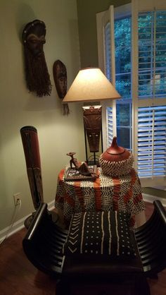 An Afro Centric Corner in my living room!