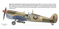 SAAF: A Spitfire / DB-R of Squadron, Giola Del Colle, Italy. (Oct At the end of the North African campaign, the squadron relocated to Sicily under control of the Wing (SAAF). From July 1943 the Wing controlled & Squadrons from the SAAF. Air Force Aircraft, Ww2 Aircraft, Fighter Aircraft, Military Aircraft, Fighter Jets, Spitfire Supermarine, Aviation Theme, Aviation Art, South African Air Force