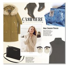 """""""CASHMERE:)))"""" by m555m ❤ liked on Polyvore featuring The Row, Rupert Sanderson, J.Crew, MICHAEL Michael Kors, Repeat Cashmere and Sydney Evan"""