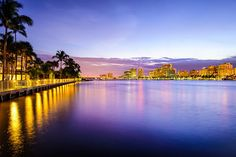 Photo about West Palm Beach, Florida, USA on the intracoastal waterway. Image of dusk, cityscape, landmark - 48998322 West Palm Beach Florida, Florida Usa, South Florida, Best Movers, The Help, Real Estate, Stock Photos, Water, Outdoor