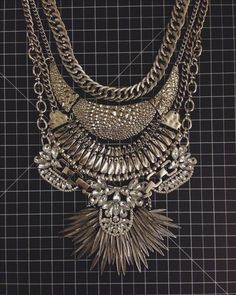 finished diy dylanlex inspired statement necklace