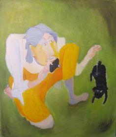 "Saatchi Art Artist Mark Barry; Painting, ""Pet Photographer"" #art"