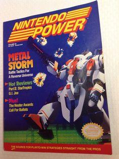 Nintendo Power Magazine Volume 22 March 1991 Metal Storm