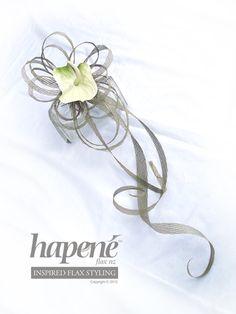 Anthurium wedding bouquet - Hapene Online Store, flax flowers and arrangements  ON SALE for $49 Wedding Bouquets, Wedding Flowers, Flax Weaving, Flax Flowers, Wedding Inspiration, Wedding Ideas, Centrepieces, Floral Arrangements, Ribbon