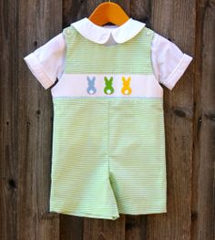 Smocked Bunny Jon Jon from Smocked Auctions. So cute for Easter!