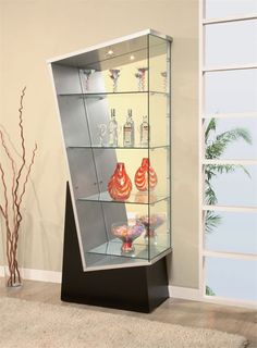 09 Askew Curio Cabinet from Global Furniture On Display: 10 Sleek Curio Cabinet Designs