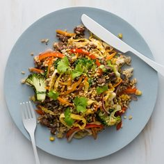 For little foodies leave some rice and lamb plain and serve veggies on the side. Leave the coriander and peanuts on the side for fussier Foodies. Carrot And Coriander, Mince Recipes, Healthy Food, Healthy Recipes, Fish Sauce, Stir Fry, Peanuts, I Foods, Broccoli