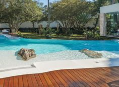 Cristal Pool - Pioneiro em Investimentos Inovadores Swimming Pools Backyard, Garden Pool, Cristal Pool, Decks, Pool Waterfall, Dream Pools, Beautiful Pools, Cool Pools, Pool Designs