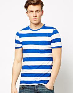 Polo Ralph Lauren T-Shirt in Blue Stripe