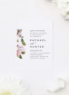 Our Elegant Magnolia Flowers Wedding Invitations feature a classic and elegant design with stunning magnolia flowers, petals and leaves. Classic Wedding Themes, Classic Wedding Inspiration, Wedding Ideas, Botanical Wedding Theme, Wedding Flowers, Invitations Online, Invites, Pastel Wedding Invitations, Perfect Wedding