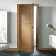 Deanta Seville Oak Panel Door, Prefinished - Lifestyle Image