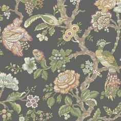 Casa Blanca Rose WA7738  $27.99 single Waverly / York wallpaper   Has blue/ turq/ red, white yellow / beige