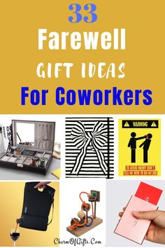 33 goodbye gift ideas your coworker will remember! These farewell gift ideas for coworker are memorable, fun and unique. List includes ideas for every type of coworker.