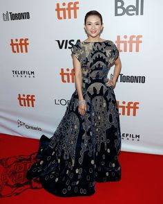 Jury member, Ziyi Zhang in ELIE SAAB Haute Couture Autumn Winter 2016-17 at the world premiere of 'The Magnificent Seven' during the 2016 Toronto International Film Festival.