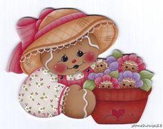HP Gingerbread with Ginger Flowers Fridge Magnet | eBay