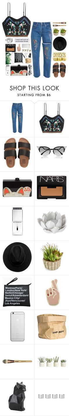 """""""Coming back to life."""" by messyqueen on Polyvore featuring Billabong, Fendi, Edie Parker, NARS Cosmetics, Givenchy, Pavilion Broadway, Allstate Floral, Georgia Perry, Native Union and H&M"""