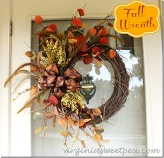 New Fall Wreath and a Fun Announcement - Sweet Pea