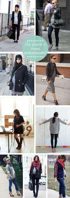 ¿Problemas para vestir en invierno con el embarazado? 'Don guorri' que tenemos looks para ir mona embarazada, atención a los fichajes.