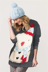 Oversized Snowman Sweat Top Next £28
