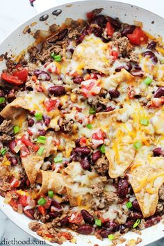 Skillet Burritos | www.diethood.com | One-Skillet dinner ready in 30-minutes, combining all your favorite Mexican flavors!