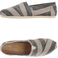 Toms Sneakers ($80) ❤ liked on Polyvore featuring shoes, sneakers, grey, toms shoes, round toe sneakers, grey sneakers, gray sneakers and grey shoes