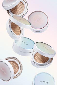 Natural Makeup Looks, Simple Makeup, Bb Cushion, Skin Secrets, Cosmetics & Perfume, Laneige, Bright Skin, Cosmetic Packaging, Radiant Skin