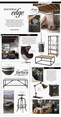 Give your #interiors an #industrial edge with tips from Occa-Home's designers!