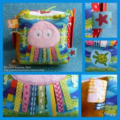 Baby Quiet Book, Felt Quiet Books, Fabric Toys, Fabric Crafts, Projects For Kids, Sewing Projects, Baby Cubes, Activity Cube, Fidget Quilt