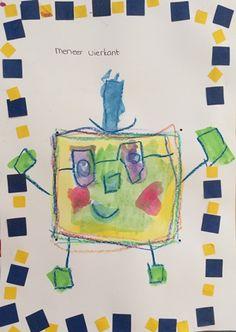 vormen kleuters vierkant knustelen Body Map, Kandinsky, Back To School, Elephant, Teacher, Museum, Shapes, Kids, Crowns