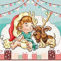 We Are Santa And Rudolph - Digital Stamp