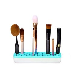 GooMart Silicone Makeup Brush Holder Cosmetic Organizer Blue -- Check out the image by visiting the link.