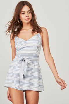 Gianna Striped Rayon Romper