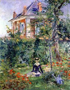 Eduard Manet. A Garden Nook at Bellevue.