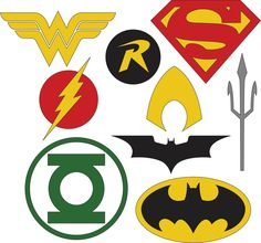 This DC Superhero Logos set includes 9 logos for various Superheroes. Your cutting machine and software must be SVG/DXF compatible to use these files. **The files will be available to download after your payment is confirmed.** IMPORTANT NOTICE: With your purchase, you will receive the right to use these files for your personal use. You may not sell the file, post on any website without permission, or forward them to anyone else. Thank you