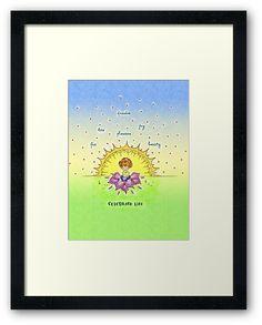 #celebrating #celebratinglife #green #yellow #sun #art #prints #giftideas #gifts #cartoons #watercolors #artprints #prints